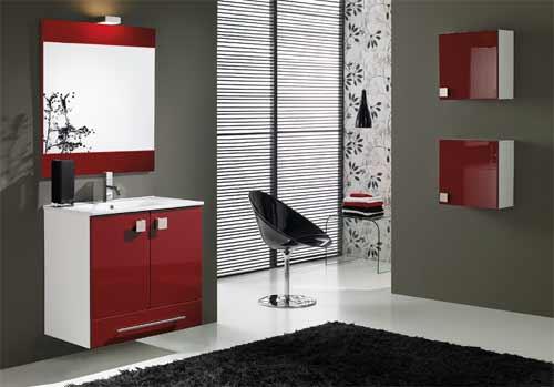 Baños Diseno Muebles:Decoracion De Banos Con Rojo